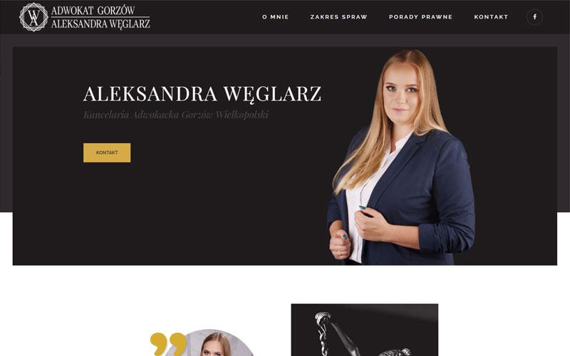 stworzenie strony internetowej Adwokat Gorzów Aleksandra Węglarz