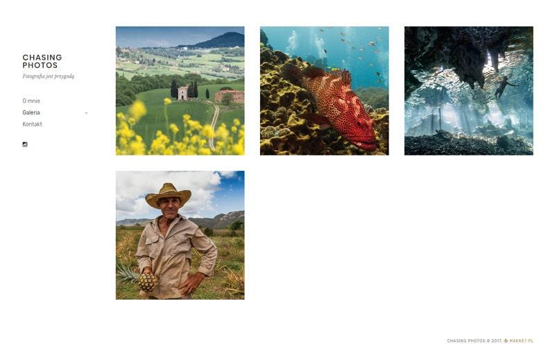 projektowanie strony www Chasing Photos Gorzów Wielkopolski