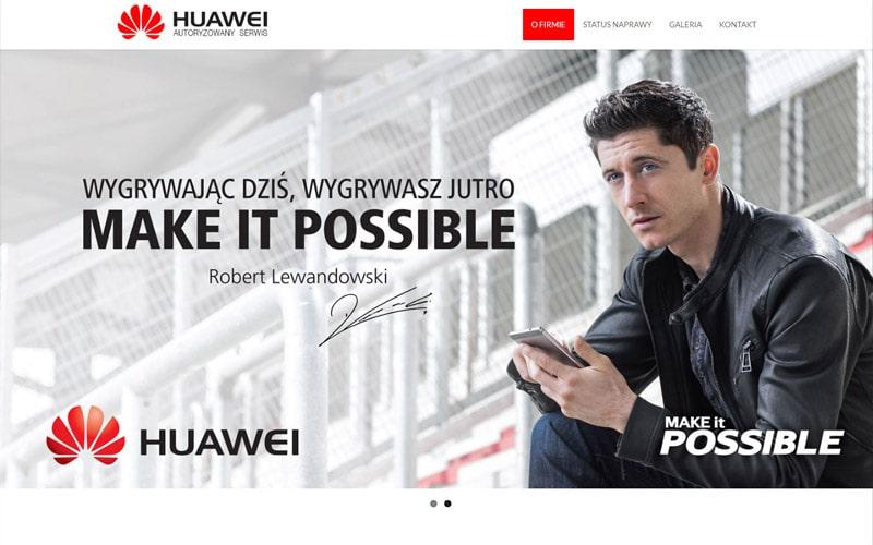 realizacja strony internetowej serwisu Huawei