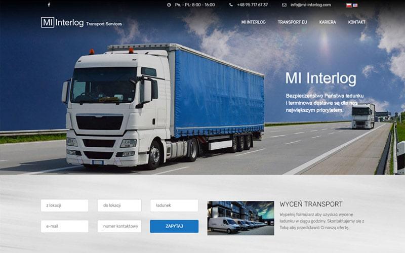 projektowanie strony internetowej Mi Interlog Gorzów Wielkopolski